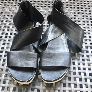 Black Eileen Fisher flat shoes.